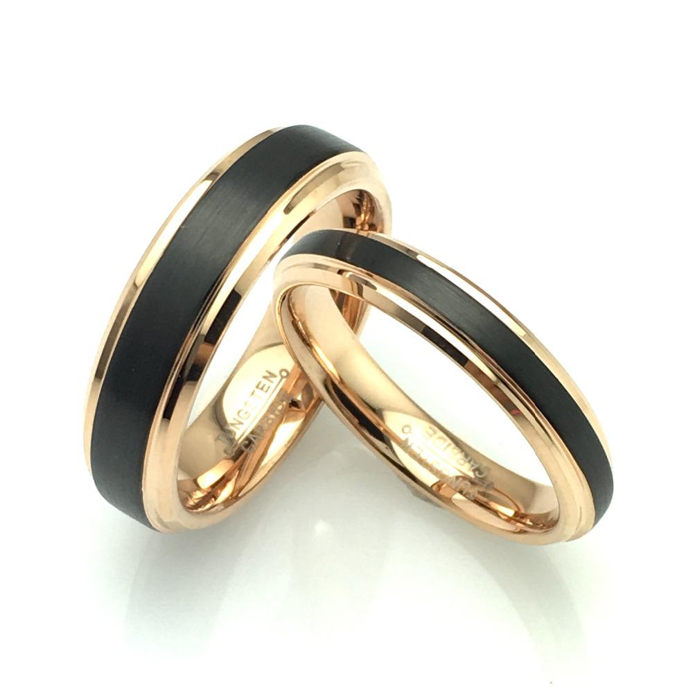 Wolfrámové snubné prstene